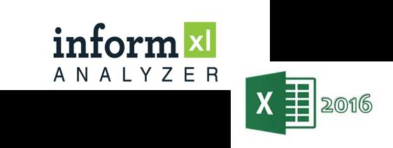 informXL and Excel 2016 logos