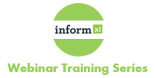 informXL webinar training series logo